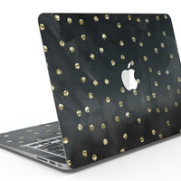 Black Watercolor and Gold Glimmer Polka Dots - MacBook Air Skin Kit