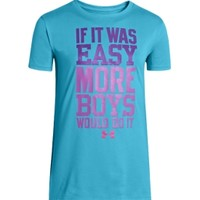 Under Armour Girls' If It Was Easy Graphic T-Shirt