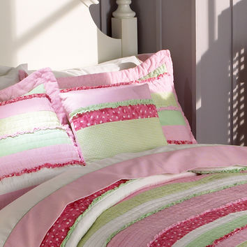 Annas Ruffle Pink Pillow