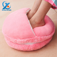 Creative Macaron Plush Foot Warmer Winter Feet Warmer Slippers Sofa/Chair/Seat/Back Cushion Pillow for Office Decoration Home