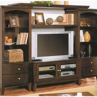 Espresso finish wood TV / Plasma / LCD / Big screen entertainment center