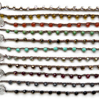 onujewelry.com - Dot Necklaces - Small Bead - eco-chic handcrafted beaded jewelry by Donna Silvestri, On U Jewelry, Richmond, VA
