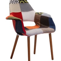 Zuo Modern Moshe Occasional Arm Chair - Multicolor Patchwork | www.hayneedle.com
