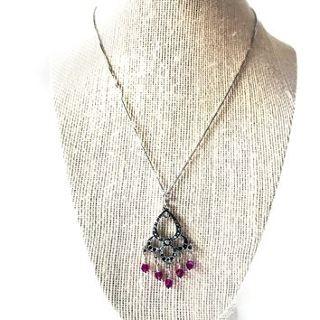 Pink Swarovski necklace