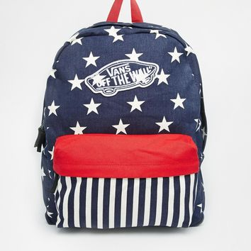3d649d57417688 Vans Realm Backpack in Stars and Stripes from ASOS