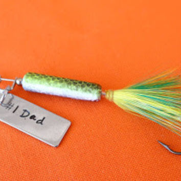 Personalized Fishing Lure with Stamped Message, Fishing lure, Custom Lure, Stamped Lure, Gift for him, Gift for Dad