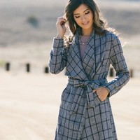 Jillian Black Plaid Coat