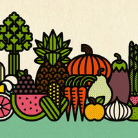 Fruits & Veggies Print | Burlesque of North America