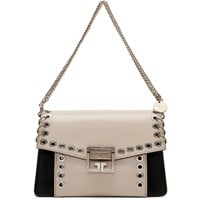 White & Black Small GV3 Eyelet Bag