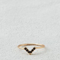 AEO Women's Black V-ring (Gold)