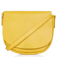 Clean Leather Saddle Bag - Topshop