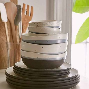 16-Piece Speckle Stoneware Dinnerware Set