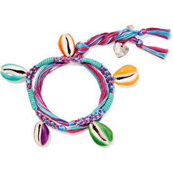 Aurélie Bidermann - Takayama braided cotton and resin anklet