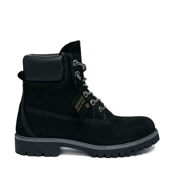 Bronx Black Lace Up Worker Boots