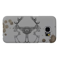 Spooky vintage skeleton reindeer drawing samsung galaxy s6 case