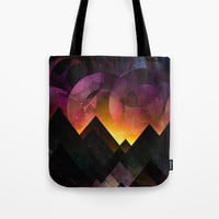 Whimsical mountain nights Tote Bag by HappyMelvin