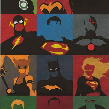Justice League Pop Art DC Comics Poster 22x34