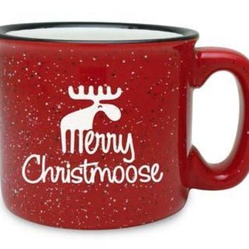 Merry Christmoose Holiday Red Camp Mugs (Set of Two)