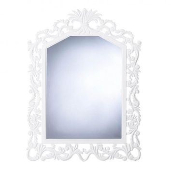 Set of 2 Lavish White Wall Mirrors