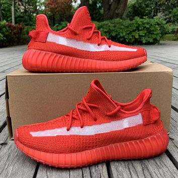 Adidas yeezy 350v2 Fashion New Women Men Sports Leisure Running Shoes Red