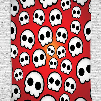 Silly Ghosts Halloween Wall Fabric Tapestry