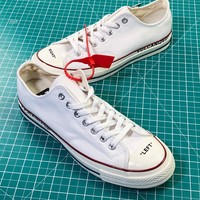 Off White X Converse Chuck Taylor All Star 1970s Low White Sneakers Shoes - Sale