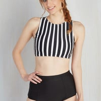 Good Volley, Miss Molly! Swimsuit Top in Stripes | Mod Retro Vintage Bathing Suits | ModCloth.com