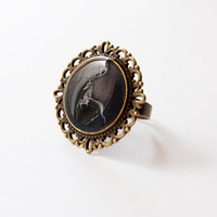 House Baratheon of Storm's End Crest - Baratheon Ring - Game of Thrones Jewelry - A Song of Ice and Fire - Handmade Vintage Cameo Pin Brooch