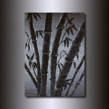 Original ACEO: Monochromatic Bamboo Painting