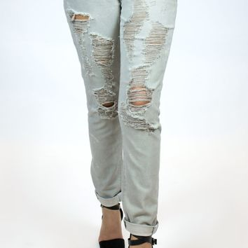 Articles Of Society | Cindy Girlfriend Cropped Denim in Destin