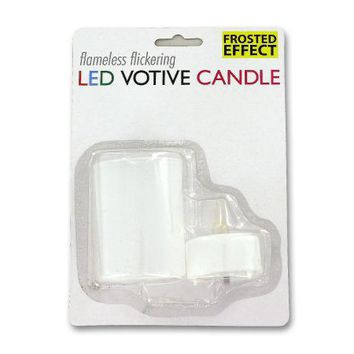 Flameless Flickering LED Votive Candle Countertop Display ( Case of 72 )