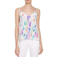 Amanda Uprichard Womens Natalie Silk Printed Tank Top