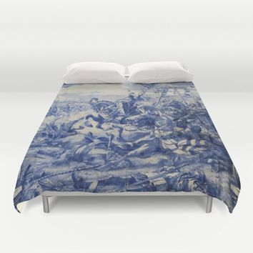 Portuguese traditional tile artwork Duvet Cover by Tony Silveira