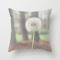 Make a wish Throw Pillow by Courtney Burns