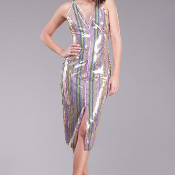 Cotton Candy Sequin Dress