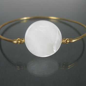 Gold Mother Of Pearl Bangle Bracelet - Gold Bangle Bracelet - Mother of pearl - Bangle - Bracelet - Jewelry - Bauble Vine Bangles-