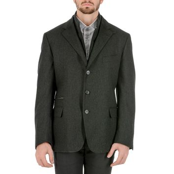 Corneliani Mens Jacket Long Sleeves Dark Grey