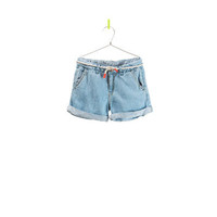 DENIM BERMUDAS WITH BELT - Skirts and shorts - Girl - New collection | ZARA United States