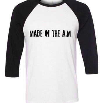 "One Direction ""Made in the A.M."" Baseball Tee"