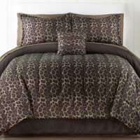 jcpenney | Home Expressions™ Safari Leopard Complete Bedding Set with Sheets Collection