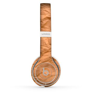 The Brown Crumpled Paper Skin Set for the Beats by Dre Solo 2 Wireless Headphones