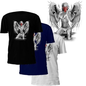 Marilyn Monroe Winged Gangster T-Shirt