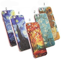 3D Painting Cell Phone Case For iPhone 7 Plus Case for iPhone SE 4 4s 5 5s 6 6s Plus Case Van Gogh Starry Night Phone Case Fone 0322