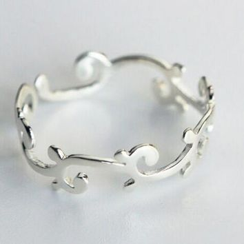 925 sterling silver tree branch opening ring,a personalized gift