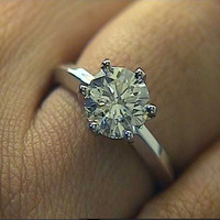 1.50ct D-VS2 Round Diamond Engagement Ring 18kt white Gold JEWELFORME BLUE