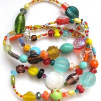 Frida Fiesta Summer Necklace SHIPPING INCLUDED by eclecticnesting