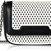 A|X Armani Exchange Small Perforated Crossbody Bag, 01610