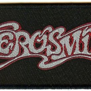 Aerosmith Sew On Patch Rectangle Letters Logo