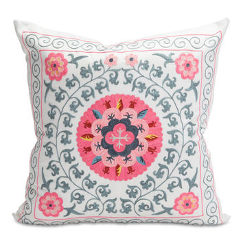 Pretty Pink Suzani Pillow