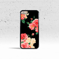 Large Carnations Floral Case Cover for Apple iPhone 4 4s 5 5s 5c 6 6 Plus & iPod Touch